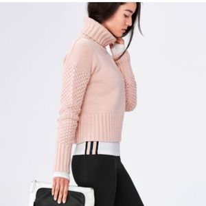 Derek lam ioc athleta pink turtleneck sweater med